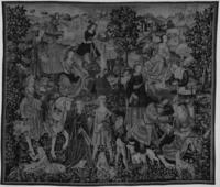 Hunters and shepherdesses flirting, Image 1