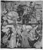 Hawking party with shepherds and shepherdesses flirting, Image 1