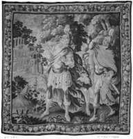 Constantine and soldiers see the monogram of Christ in sky, Image 1