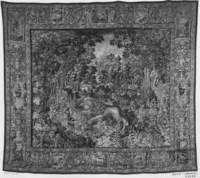 Game park with lion attacking wild ass, c. 1610-1620