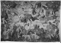 Hawking party with shepherds and shepherdesses flirting, c. 1500-1525