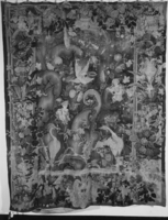 Large-leaf verdure (feuille de choux) with putti and herons, unknown