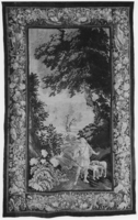 Landscape with Meleager and hounds, c. 1675-1700, Meleager falling in love with Atalanta at first sight(?)