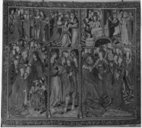 Eight scenes, two with emperors, c. 1500-1510