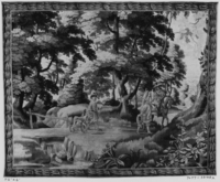 Landscape with hunters and hounds, c. 1650-1675